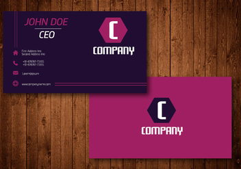 Purple Hexagon Creative Business Card - vector gratuit #336195