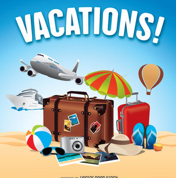 Summer holidays travels - vector gratuit #336355