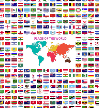 World Flags collection - vector #336395 gratis