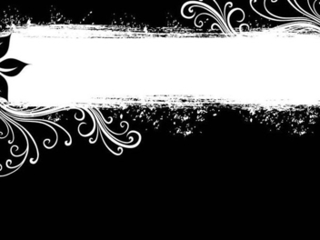Swirls Grungy Black White Banner - Free vector #336435