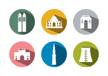 Set of Buildings From India - Free vector #336565
