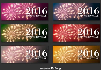 New Year 2016 banners - Free vector #336595