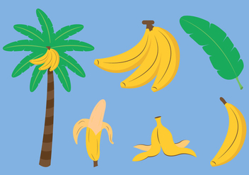 Vector Set of Banana - Free vector #336625