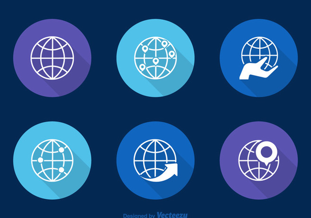 Free Globes Vector Icons - vector gratuit #336715