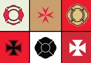 Maltese Cross Vector Set - бесплатный vector #336735
