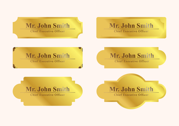 Vector Name Plate - vector gratuit #336765