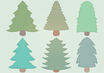 Hand - Drawn Vector Trees - Free vector #336785