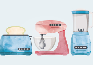 Retro Kitchenware Vector Illustration - vector #336795 gratis