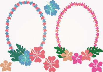 Hawaiian Lei Vector Illustration - vector gratuit #336805