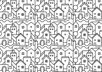 Abstract city pattern background - Free vector #336865