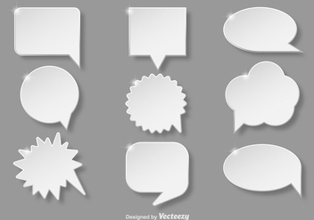 White callout collection - Free vector #337135
