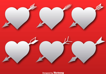 Hearts with arrows icons - vector gratuit #337175