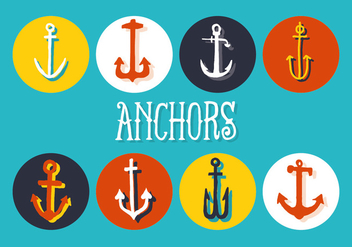 Free Set of Anchors Vector Background - vector gratuit #337255