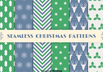 Christmas Seamless Pattern Set - Free vector #337395