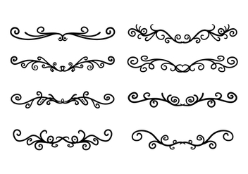 Scroll Work Vector - Free vector #337605