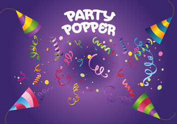 Party Popper Vector - бесплатный vector #337635