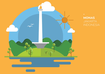 Monas Indonesia Vector - бесплатный vector #337655