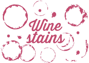 Vector Set of Wine Stains - vector gratuit #337705