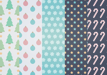 Winter Vector Patterns - Free vector #337715