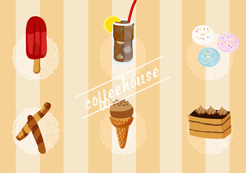 Free Set of Coffee House Vector Elements - бесплатный vector #337745