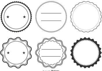 Assorted Label Shape Set - vector gratuit #337985