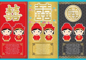 Chinese Wedding Flyers - vector gratuit #338025