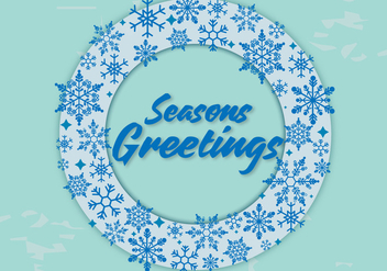 Free Seasons Greetings Vector - vector gratuit #338035