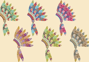 Indian Headdress - vector #338055 gratis