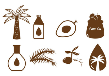 Palm Oil Vector - vector gratuit #338105