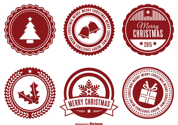 Assorted Christmas Badge Set - Free vector #338135
