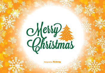 Colorful Merry Christmas Illustration - vector gratuit #338165