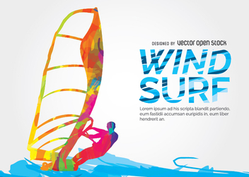 Windsuf colorful design - vector gratuit #338445