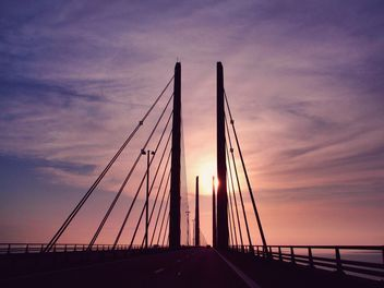 View on bridge at sunset - Free image #338515