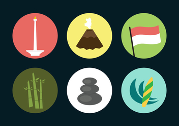 Indonesia Vector Icons - vector gratuit #338655
