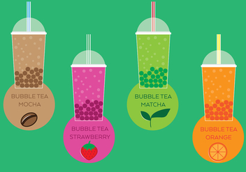 Bubble Tea Fun - vector gratuit #338685