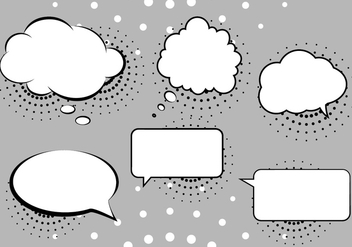 Set of hand drawn vector speech bubbles - vector gratuit #338725