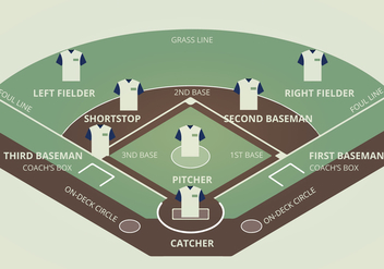 Baseball Diamond Vector Illustration - vector gratuit #338745
