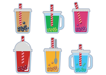 Bubble Tea Vector - vector gratuit #338825