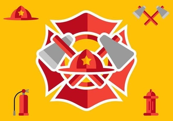 Fireman Elements - vector #338845 gratis