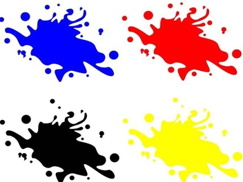 Colorful splashes - vector gratuit #338975