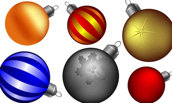 Christmas ball collection - Free vector #339065