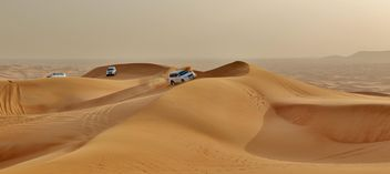 White cars in desert - Free image #339145