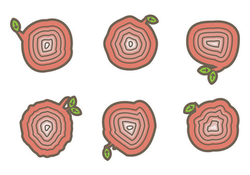 Free Tree Rings Vector Illustration #6 - Free vector #339305