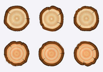 Free Tree Rings Vector Illustration - Kostenloses vector #339385
