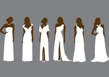 Bridesmaid Fashion Vector - Free vector #339435