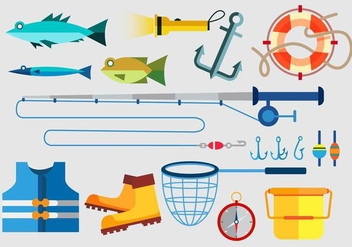 Fishing tools - vector gratuit #339505