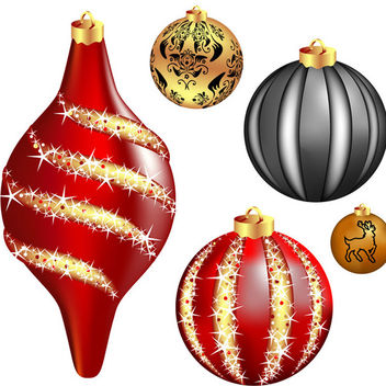 Cool vector christmas balls - бесплатный vector #339545