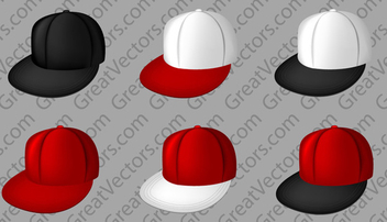 Vector full cap templates - vector gratuit #339595