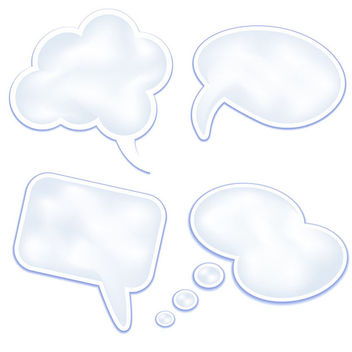 Stylish and Clean Speech Clouds - Kostenloses vector #339685