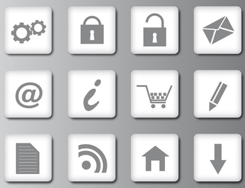 Clean Web 2.0 Icons - Free vector #339715